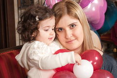 The daughter and young mum. Stock Photo