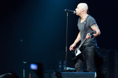 DAUGHTRY group performs on stage of Stadium Live Stock Photos