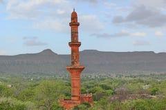 Daulatabad fort, Aurangabad, Indien Arkivfoton