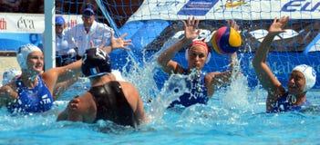 DAULE Audrey die van Frankrijk (FRA, 12) de bal werpen Stock Foto