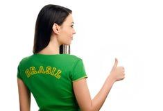 Daumen oben für Brasilien. Lizenzfreie Stockfotos