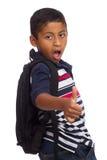 Daumen oben für zurück zu Schule Stockfoto