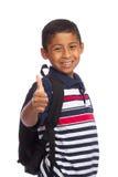Daumen oben für zurück zu Schule-Zeit Stockfotos
