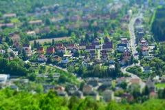 Daumennagel einer deutschen Stadt Lizenzfreies Stockfoto