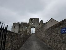 Daunting. Grey day at castle Stock Photo