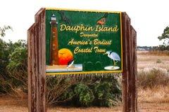 Dauphin Island, Alabama-Eisregen Stockfotografie