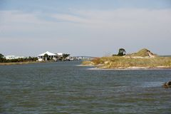 Dauphin Island in Alabama. At mouth of Mobile Bay, USA Royalty Free Stock Photo