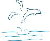 Dauphins illustration libre de droits