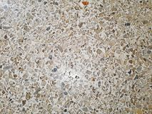 Gravel on the floor. Dav,mixed gravel on the cement floor or polished stone floor stock photography