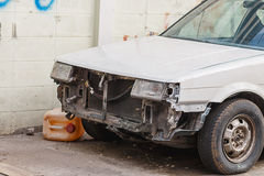 Davanti ad un'automobile un incidente Fotografia Stock