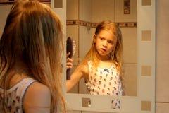 Davanti allo specchio Fotografia Stock