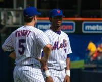 Davd Wright och Jose Reyes, New York Mets fotografering för bildbyråer