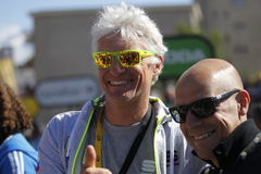 Dave Brailsford  and Oleg Tinkoff 2015 Tour de France Stock Images