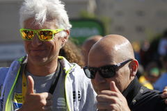 Dave Brailsford  and Oleg Tinkoff 2015 Tour de France Royalty Free Stock Images