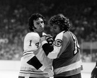 Dave Forbes and Bobby Clarke Royalty Free Stock Images
