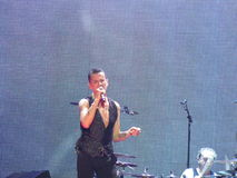 Dave Gahan, Depeche mode. Depeche mode, Delta Machine Tour Live at Kiev, Dave Gahan Royalty Free Stock Images