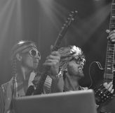 Dave Haywood and Slim from Lady Antebellum in costumes Royalty Free Stock Photography