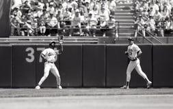 Dave Henderson e Jose Canseco fotos de stock