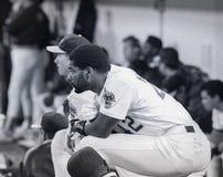Dave Henderson Oakland Athletics #42 arkivfoton
