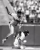 Dave Henderson Oakland Athletics royaltyfri bild