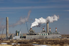 Dave Johnston Power Plant Stock Photo