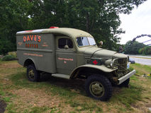 Dave's Coffee vintage military ambulance Royalty Free Stock Image