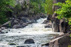 Dave`s Falls, Marinette County, Wisconsin, USA Stock Photo