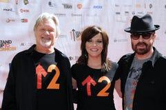 Dave Stewart, Kris Kristofferson, Martina McBride, die Stände lizenzfreie stockfotos