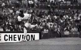 Dave Stewart. Oakland pitcher Dave Stewart. Image taken from color slide royalty free stock photos