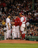 Dave Wallace, Boston Red Sox pitching coach. Royalty Free Stock Image