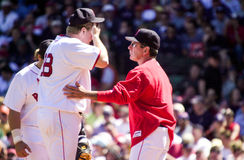 Dave Wallace and Curt Schilling, Boston Red Sox Royalty Free Stock Image