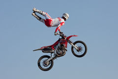 Dave Wiggins, freestyle motocross rider Royalty Free Stock Photo