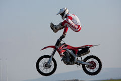 Dave Wiggins, freestyle motocross rider Stock Images