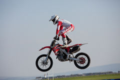 Dave Wiggins, freestyle motocross rider Stock Image