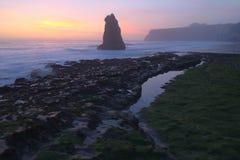 Davenport Beach Sunset Royalty Free Stock Photo