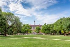 Davenport Corridoio e quadrato principale all'università dell'Illinois a urbano Fotografie Stock Libere da Diritti