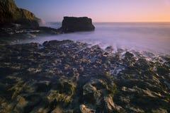 Заход солнца пляжа Davenport Стоковое Изображение