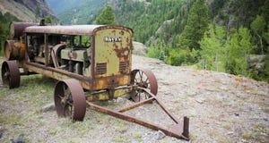 Davey Generator antigo, Ute Ulay Mine, cidade fantasma de Henson, Alpin imagem de stock
