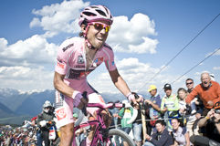 David Arroyo Giro d'Italia Plan de Corones Royalty Free Stock Image