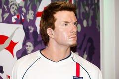 David Beckham en señora Tussaud foto de archivo libre de regalías