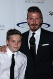 David Beckham et fils Brooklyn au 27ème anniversaire du Spectacular de sports, plaza de siècle, ville de siècle, CA 05-20-12 Photos stock