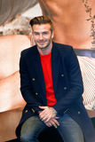 David Beckham. NEW YORK-FEB 1: David Beckham attends the launch of his new Bodywear range at the H&M Super Bowl Event at H&M Times Square on February 1, 2014 in stock photography