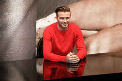 David Beckham. NEW YORK-FEB 1: David Beckham attends the launch of his new Bodywear range at the H&M Super Bowl Event at H&M Times Square on February 1, 2014 in stock image