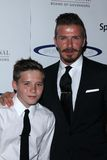 David Beckham and son Brooklyn at the 27th Anniversary Of Sports Spectacular, Century Plaza, Century City, CA 05-20-12. David Beckham and son Brooklyn  at the Stock Photos