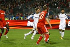 David Beckham TFC contra fútbol de la galaxia MLS del LA Foto de archivo