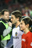 David Beckham TFC contra fútbol de la galaxia MLS del LA Fotos de archivo