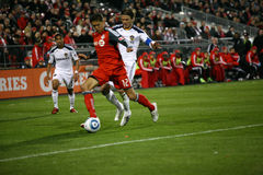 David Beckham TFC contra o futebol da galáxia MLS do LA Foto de Stock Royalty Free
