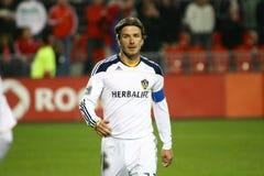 David Beckham TFC contra o futebol da galáxia MLS do LA Imagens de Stock Royalty Free