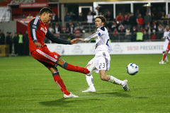 David Beckham TFC contre le football de la galaxie MLS de LA Photo stock