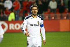 David Beckham TFC contre le football de la galaxie MLS de LA images libres de droits